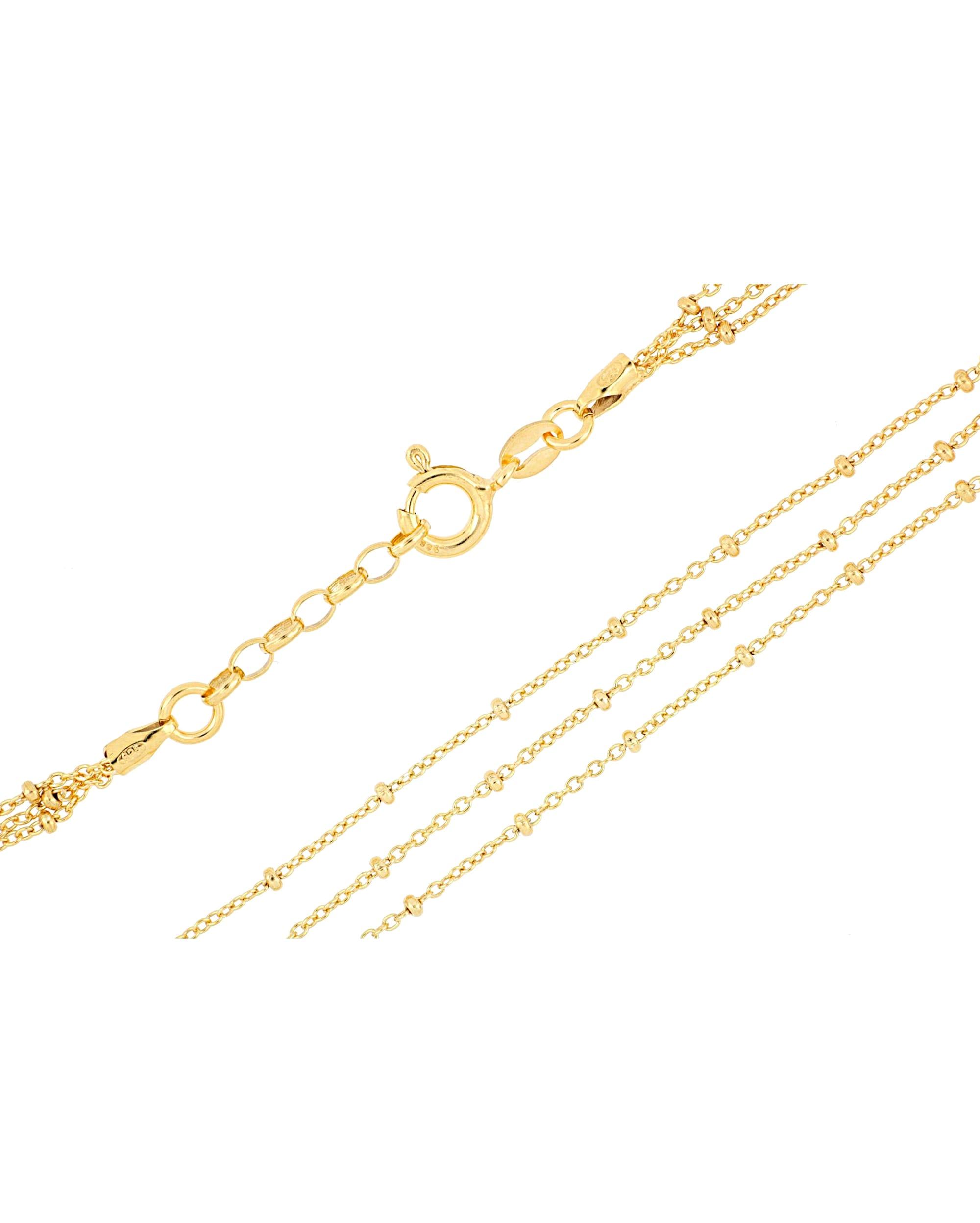 Grazielli 3rhg. Fußkette in Silber vergoldet bVh64