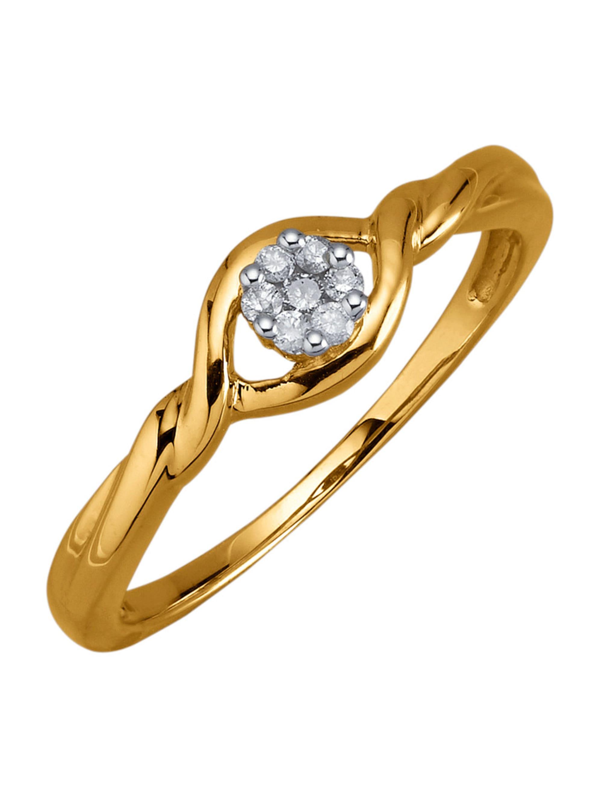 Damenring mit Diamanten KhEPj