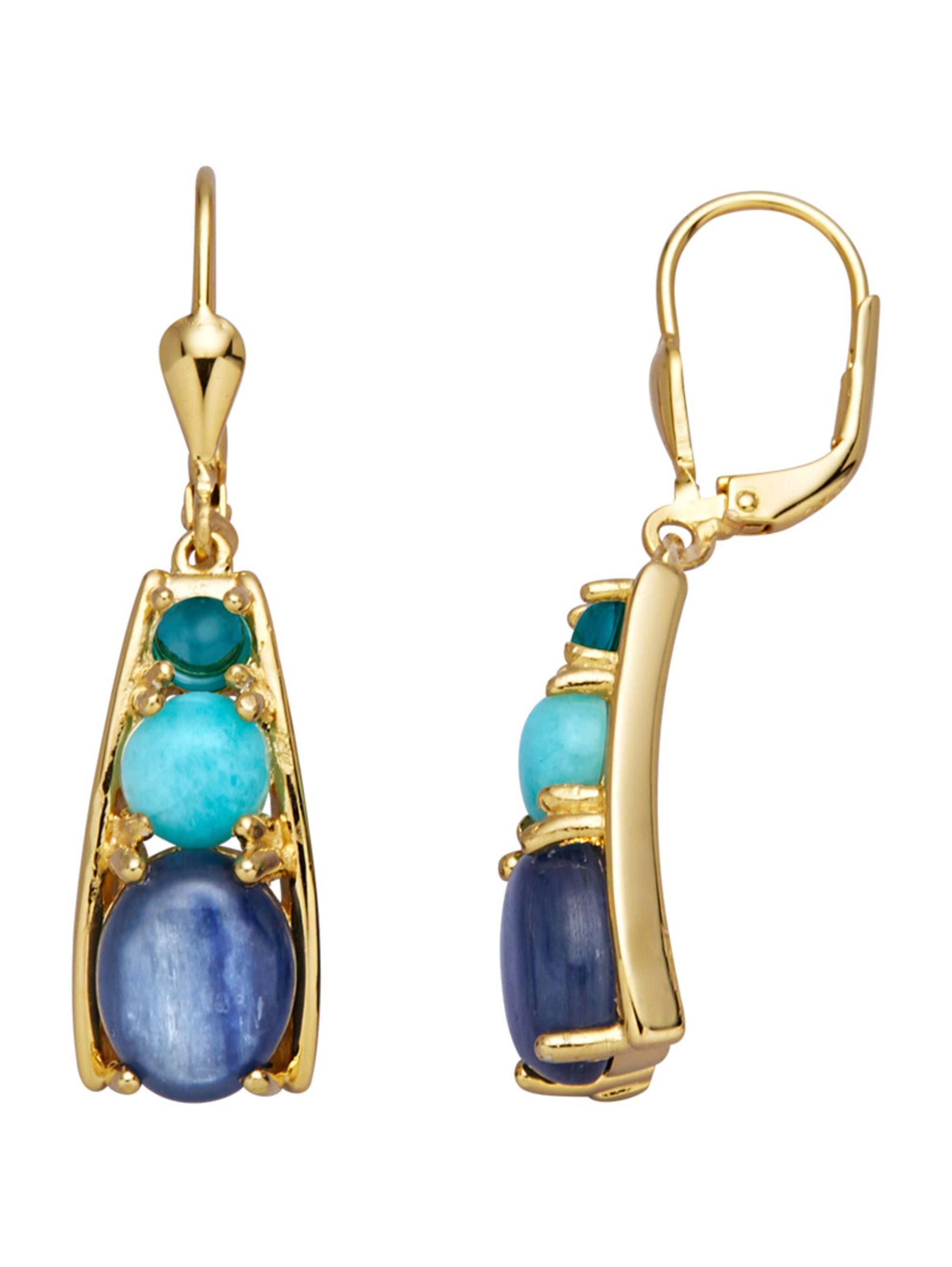 Ohrringe mit Kyaniten, Amazoniten und Blautopasen yRoe0