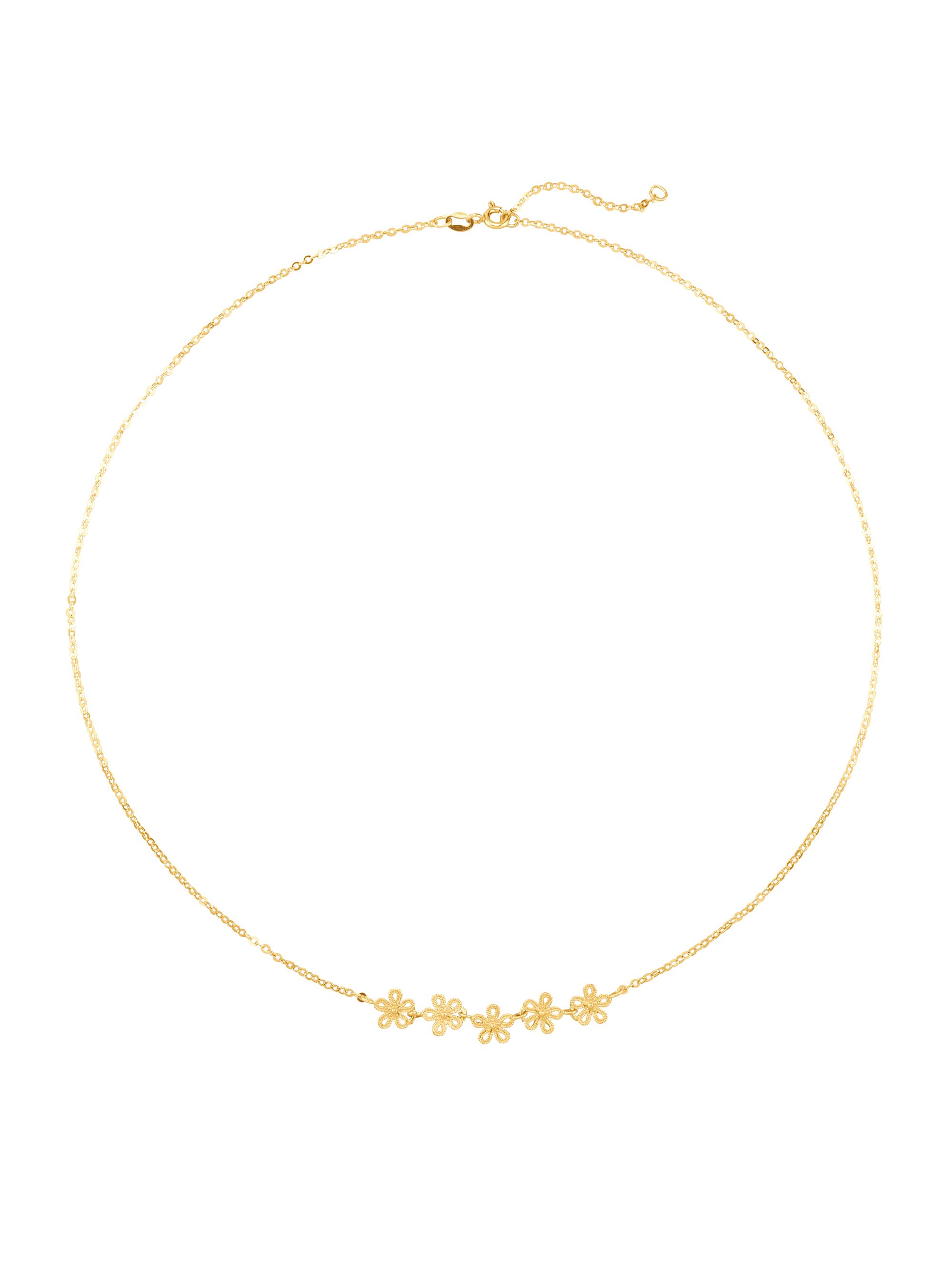 Blüten-Collier in Gelbgold 375 cFCUn
