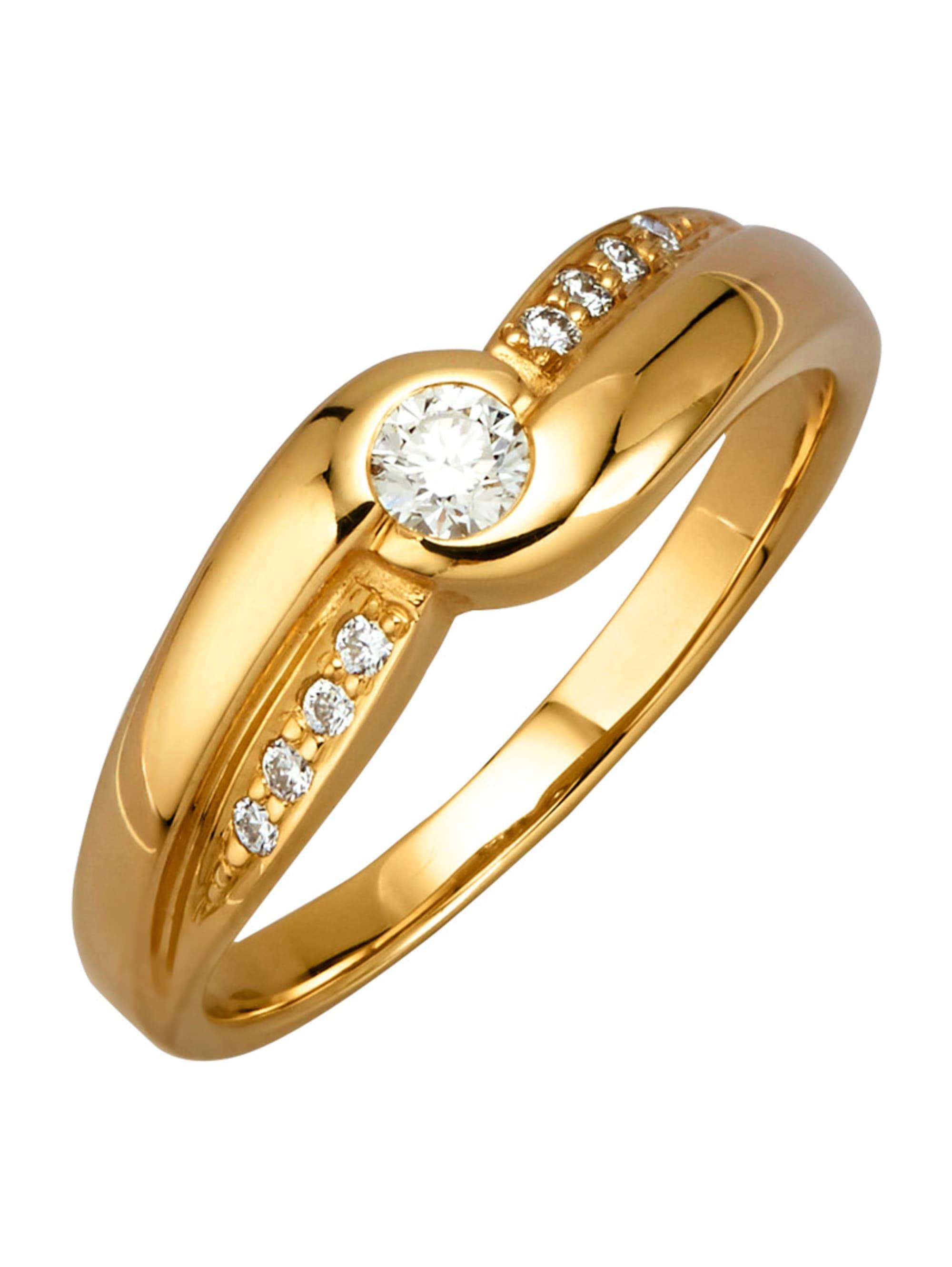 Diemer Diamant Damenring mit Brillanten pPlNJ