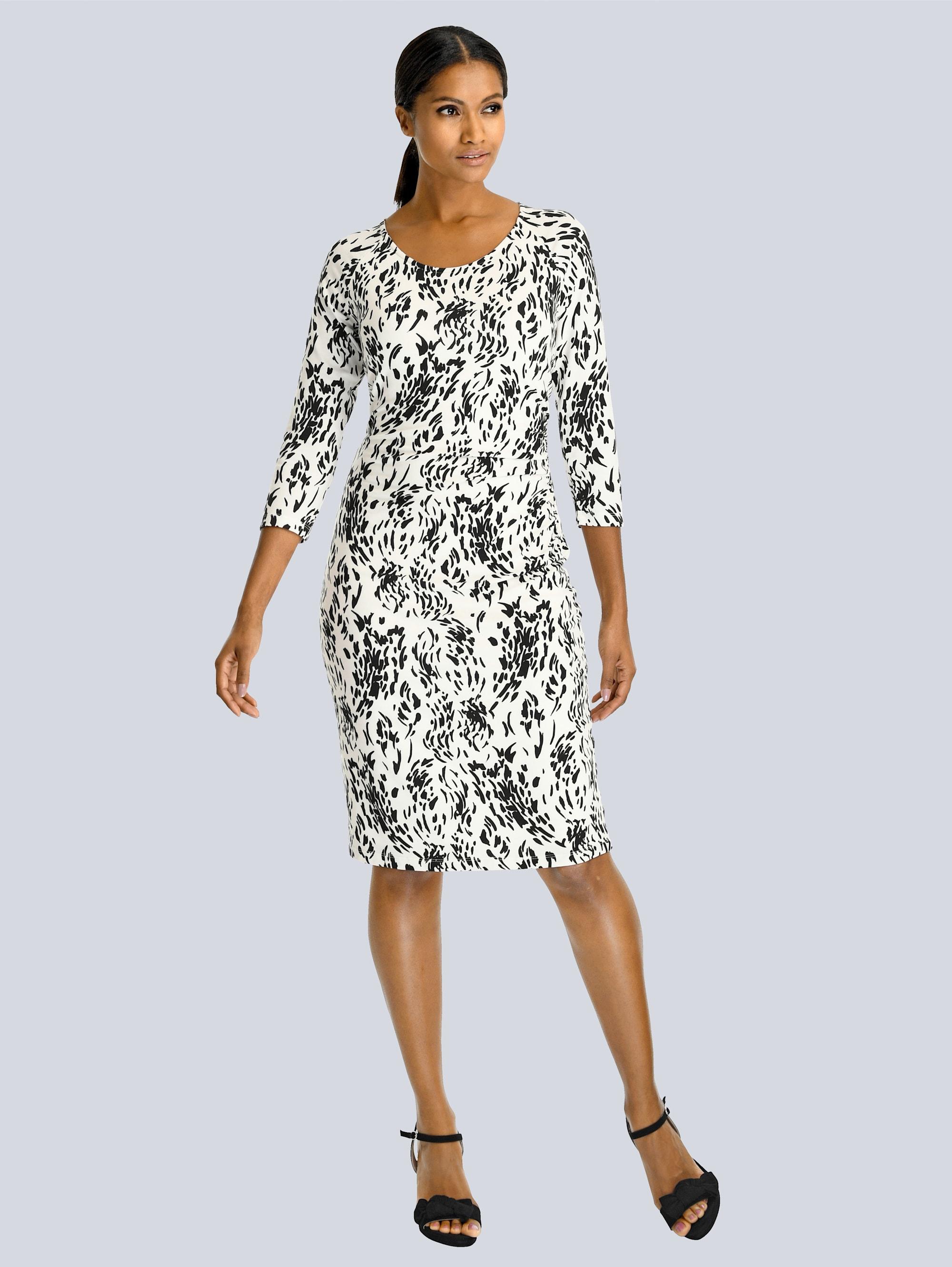 Alba Moda Kleid im grafischen Dessin allover RSCWO wZUtt