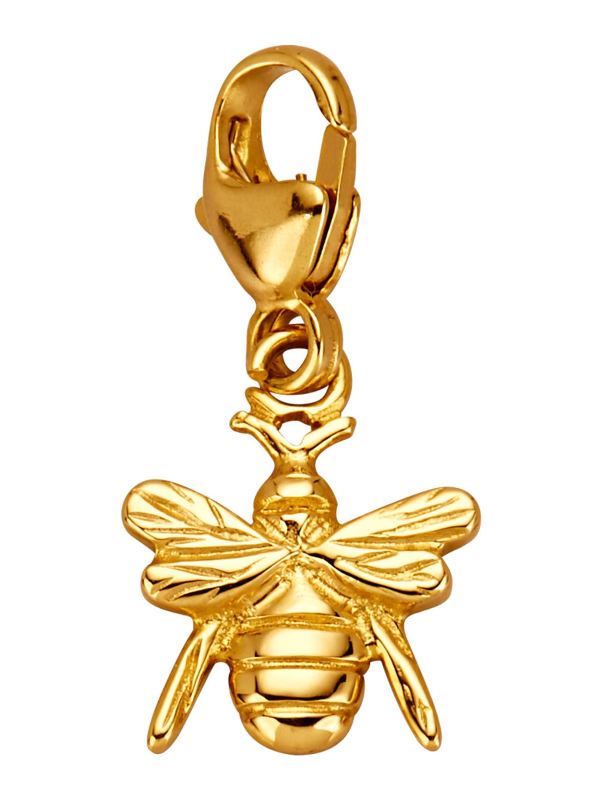 Bienen-Einhänger in Gelbgold Q5Mvg