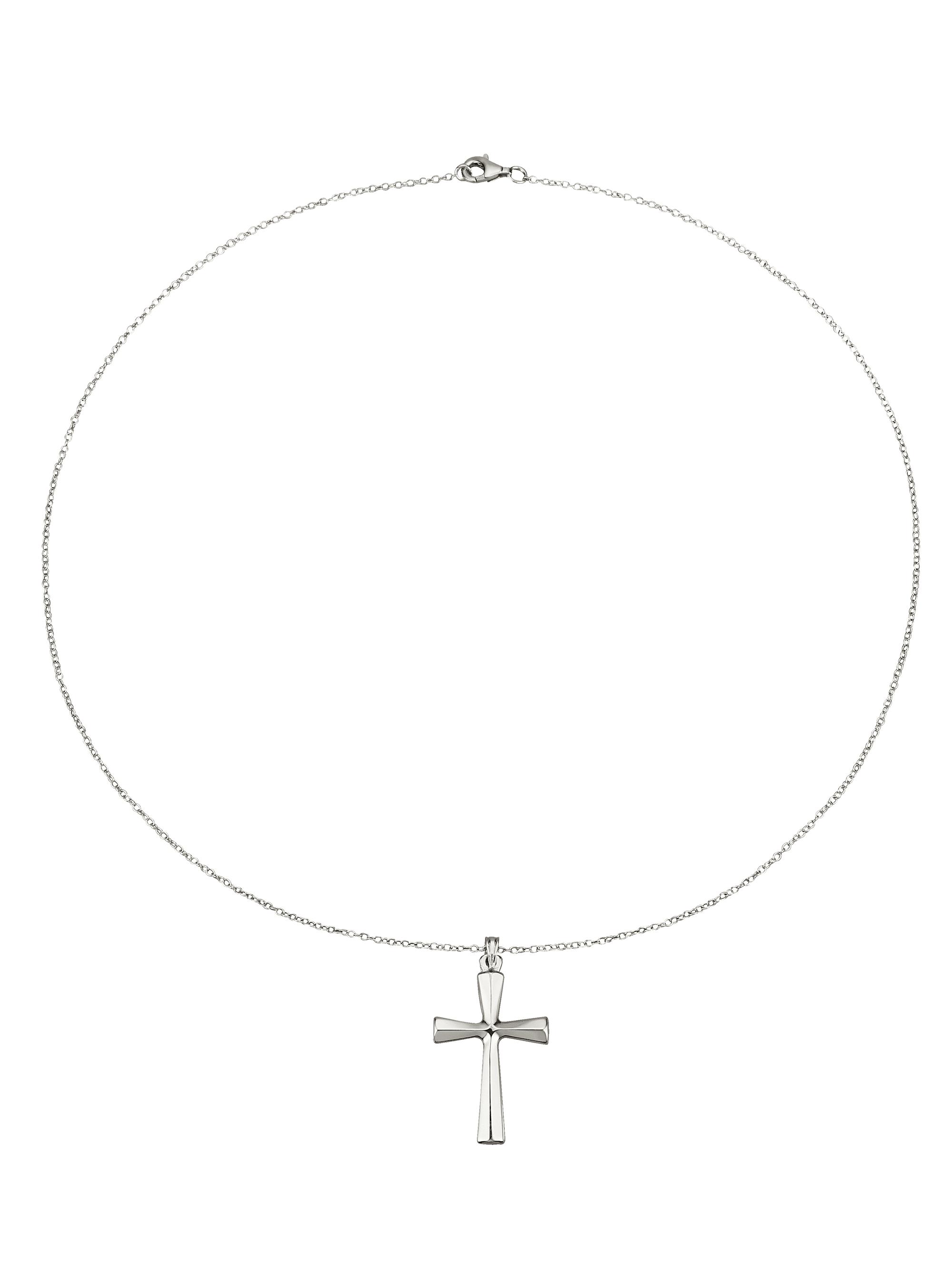 Kreuz-Anhänger mit Kette yX3G9