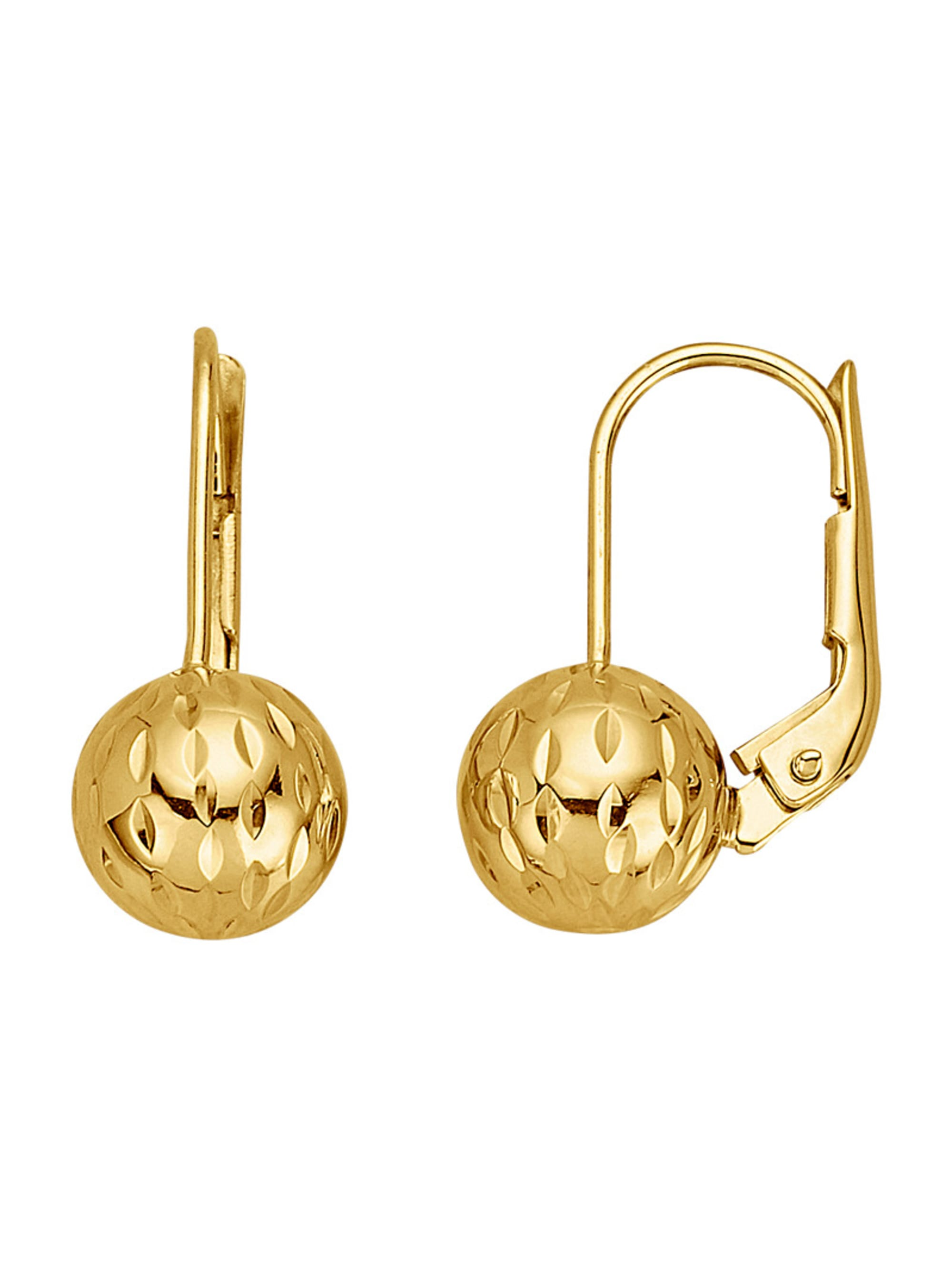 Kugel-Ohrringe in Gelbgold jIK6j