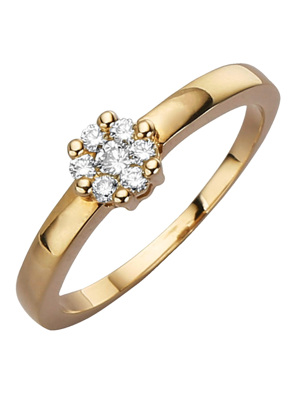 Diemer Diamant Damenring mit Brillanten ApD0E