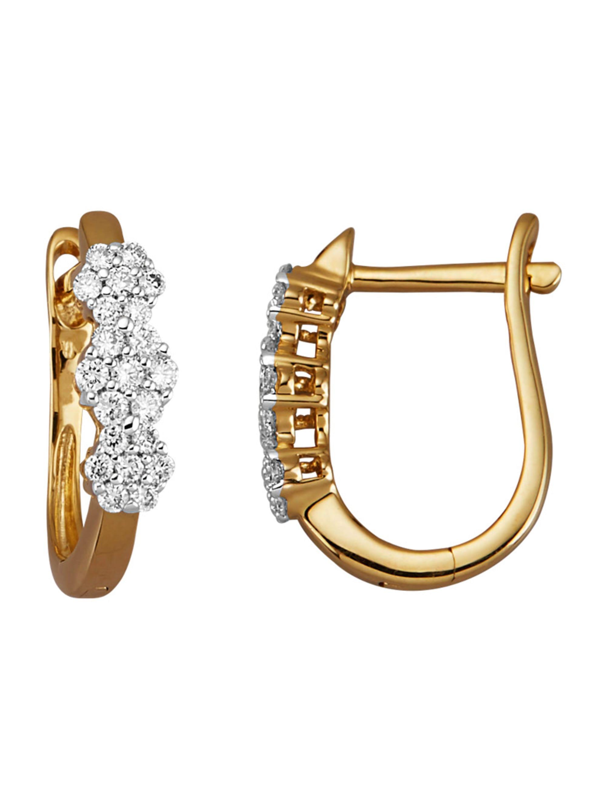 Diemer Diamant Ohrringe mit Brillanten 1N6oM