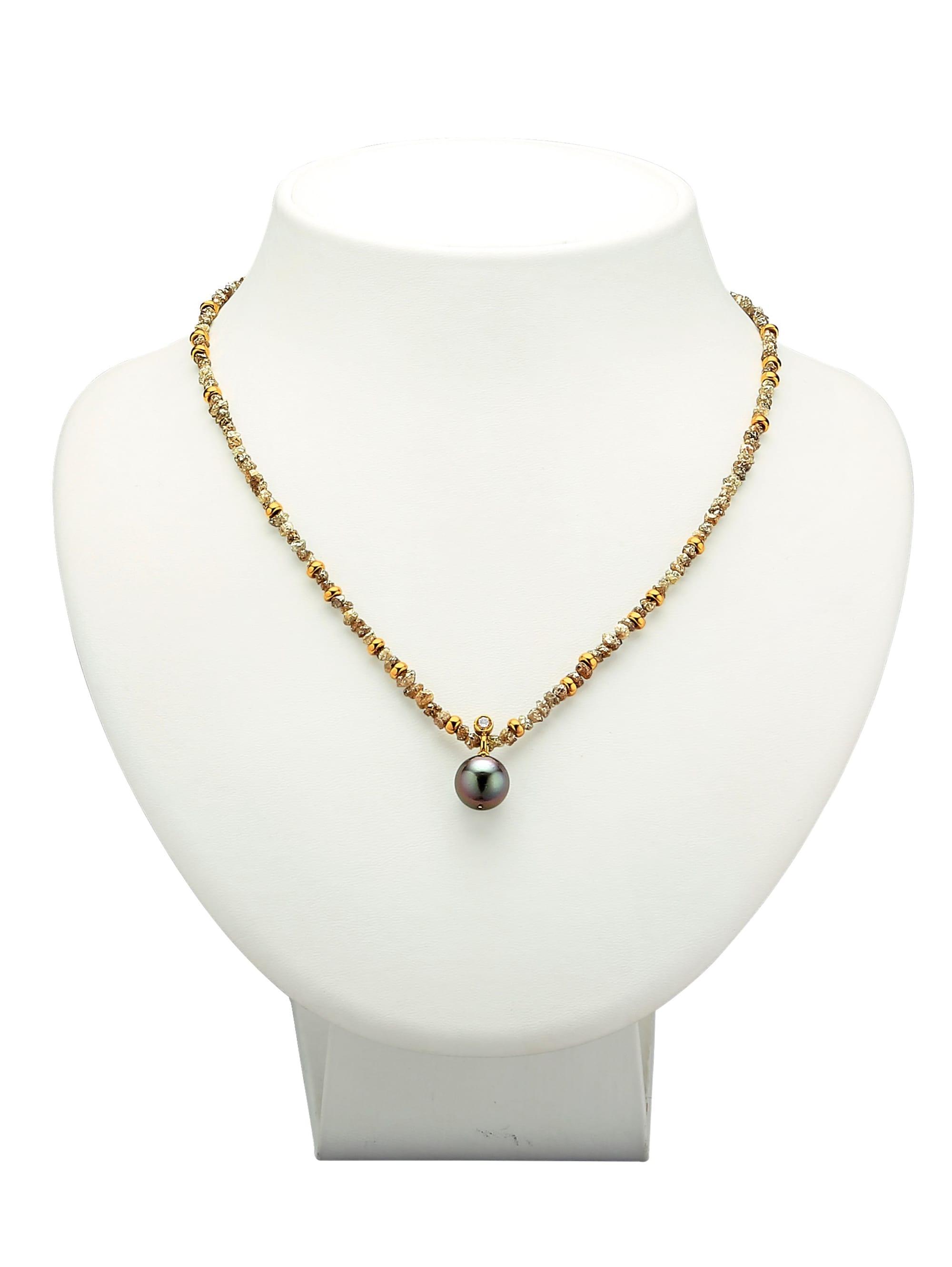Diemer Atelier Halskette aus multifarbenen Rohdiamanten Dg72P