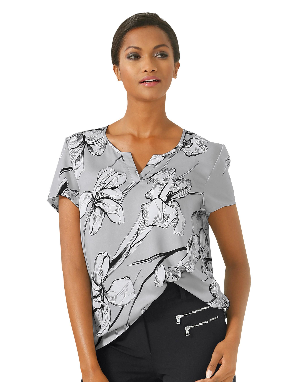 Alba Moda Blusenshirt mit effektvollem Blumenprint sDQ52 4Z6Ay