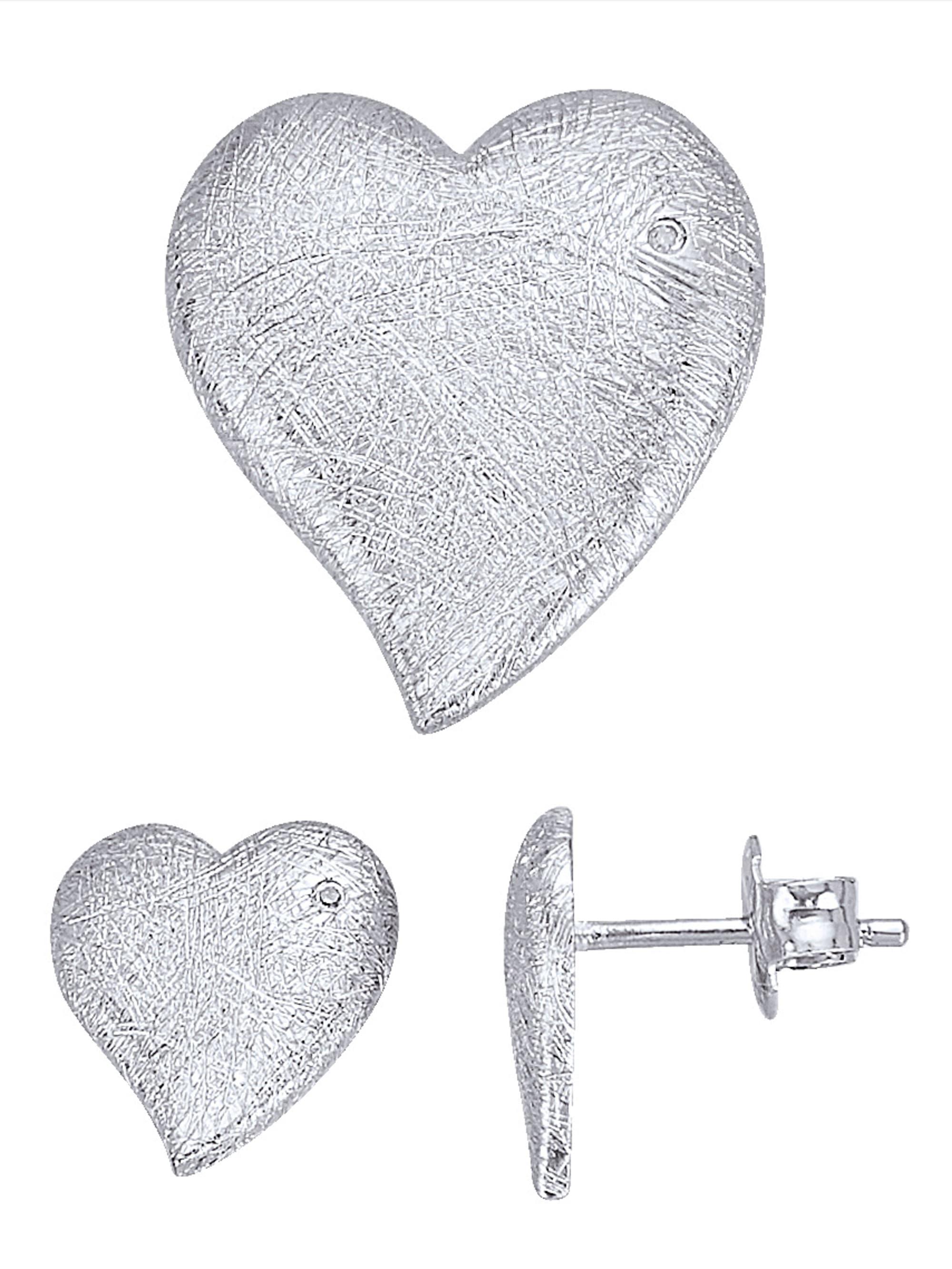 2tlg. Schmuck-Set mit Diamant kltPp