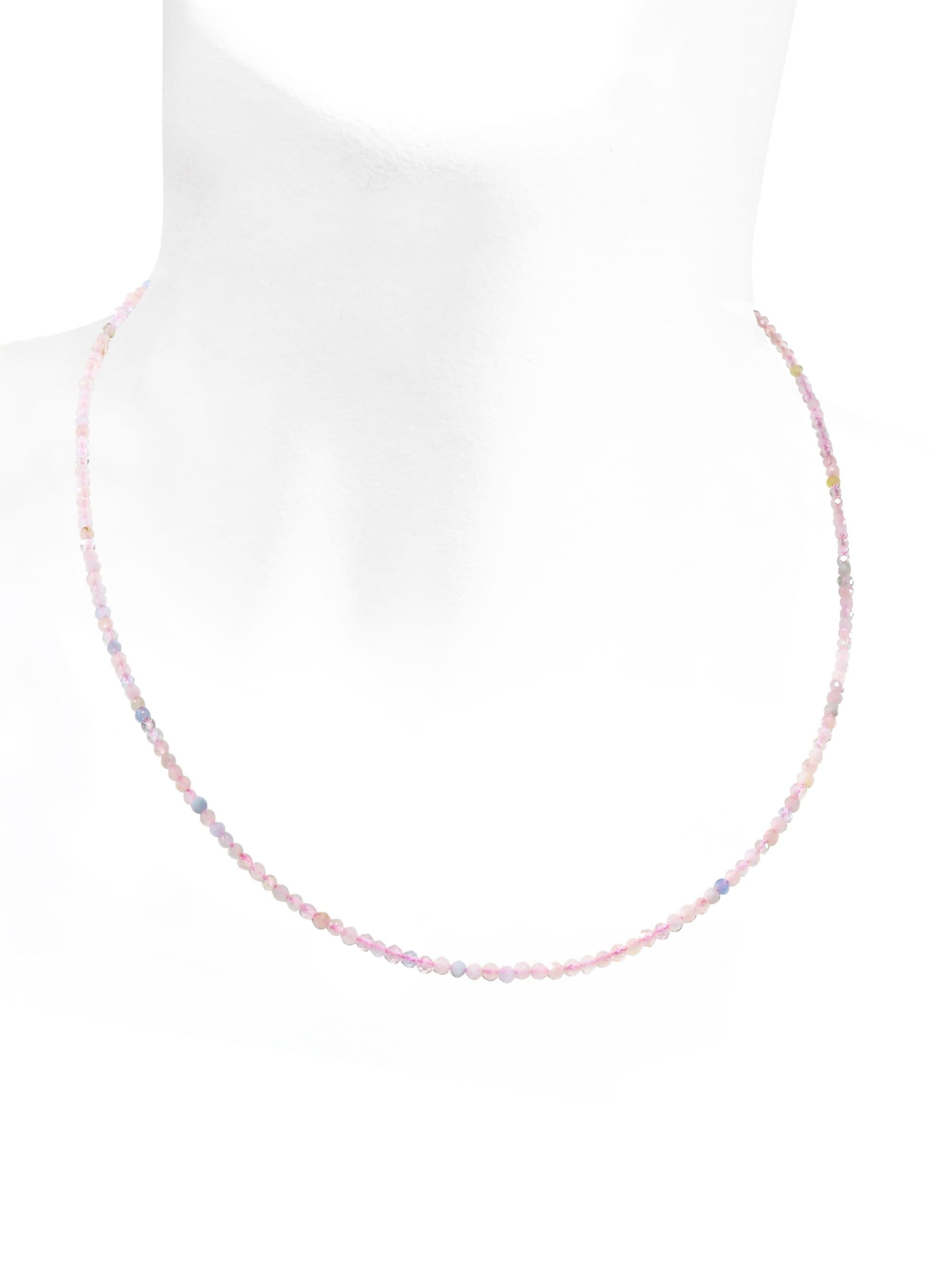 1001 Diamonds Morganit Edelstein Halskette 925 Silber P7s1v