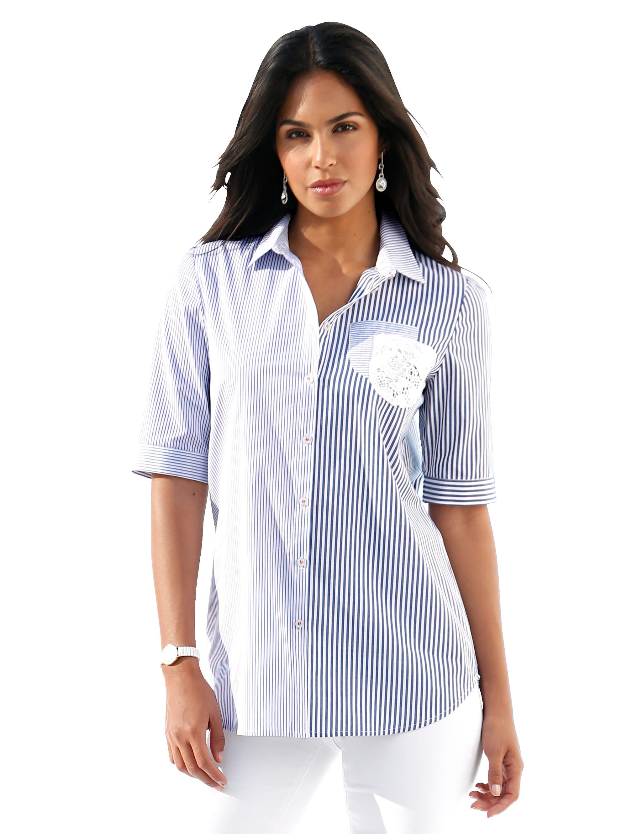 AMY VERMONT Bluse mit transparentem Spitzeneinsatz im Rückteil m5dQk xky7A