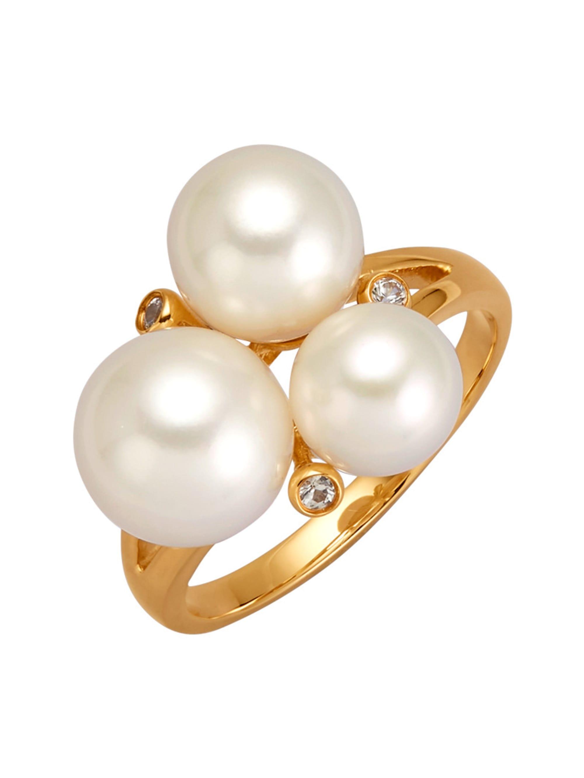 Diemer Perle Damenring mit Akoya-Zuchtperlen 7a4eO