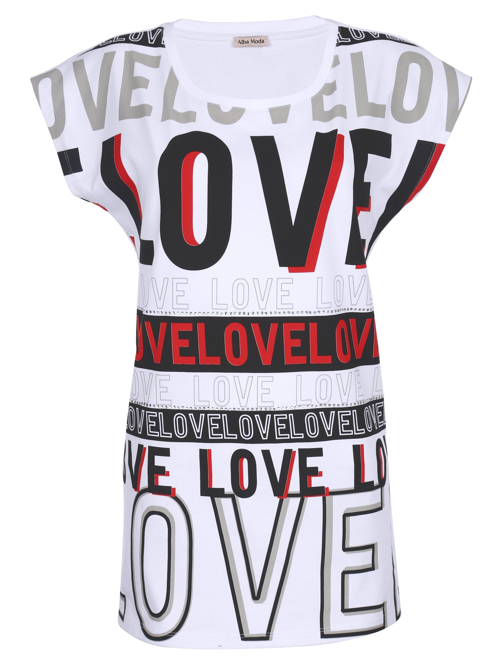 Alba Moda Strandshirt mit dekorativem Schriftdruck 0oif8 d0rvq