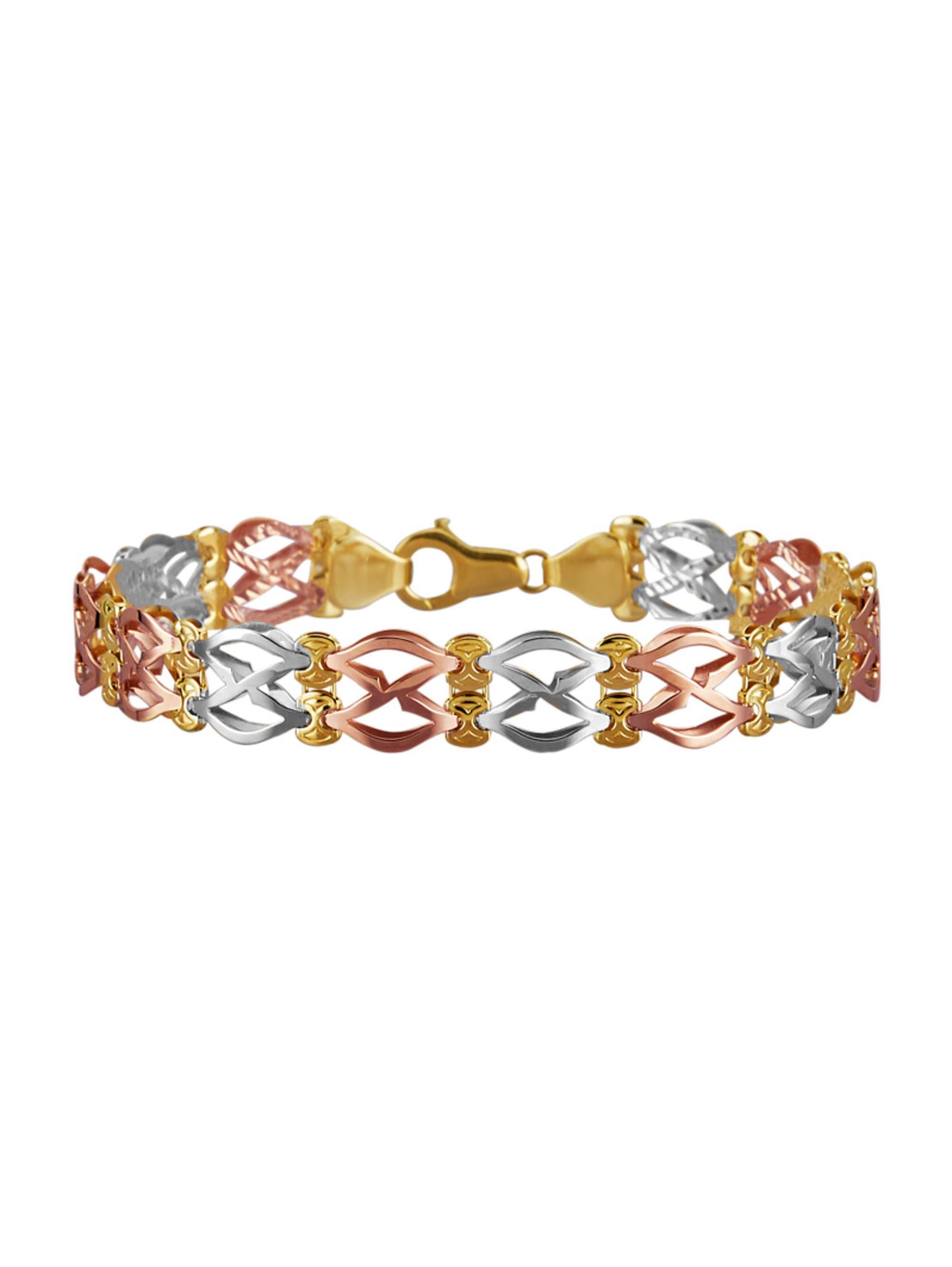 Diemer Gold Armband in Gelb-, Weiß- und Roségold 585 GaB4n