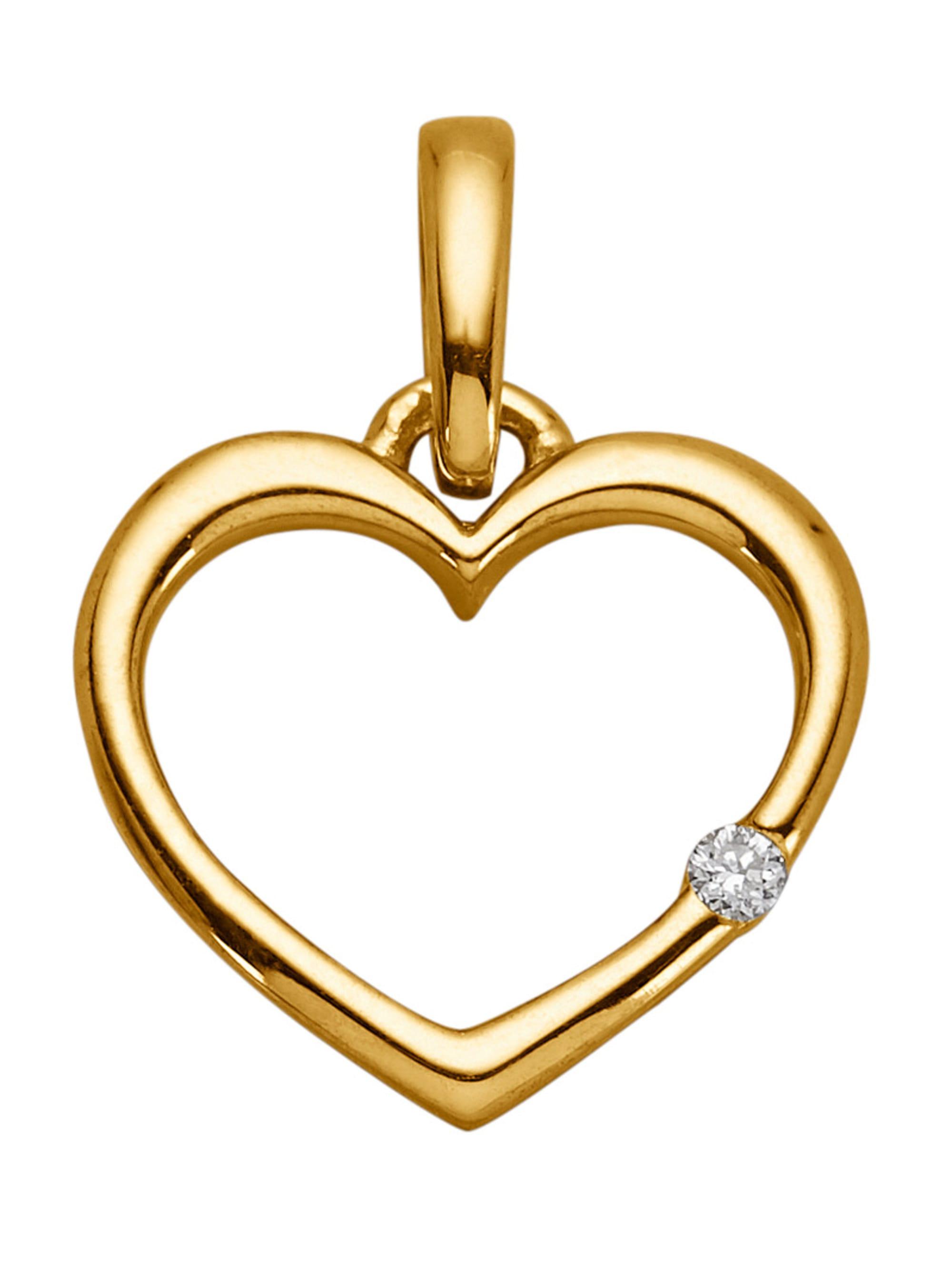 Herz-Anhänger mit Diamant LQjqX