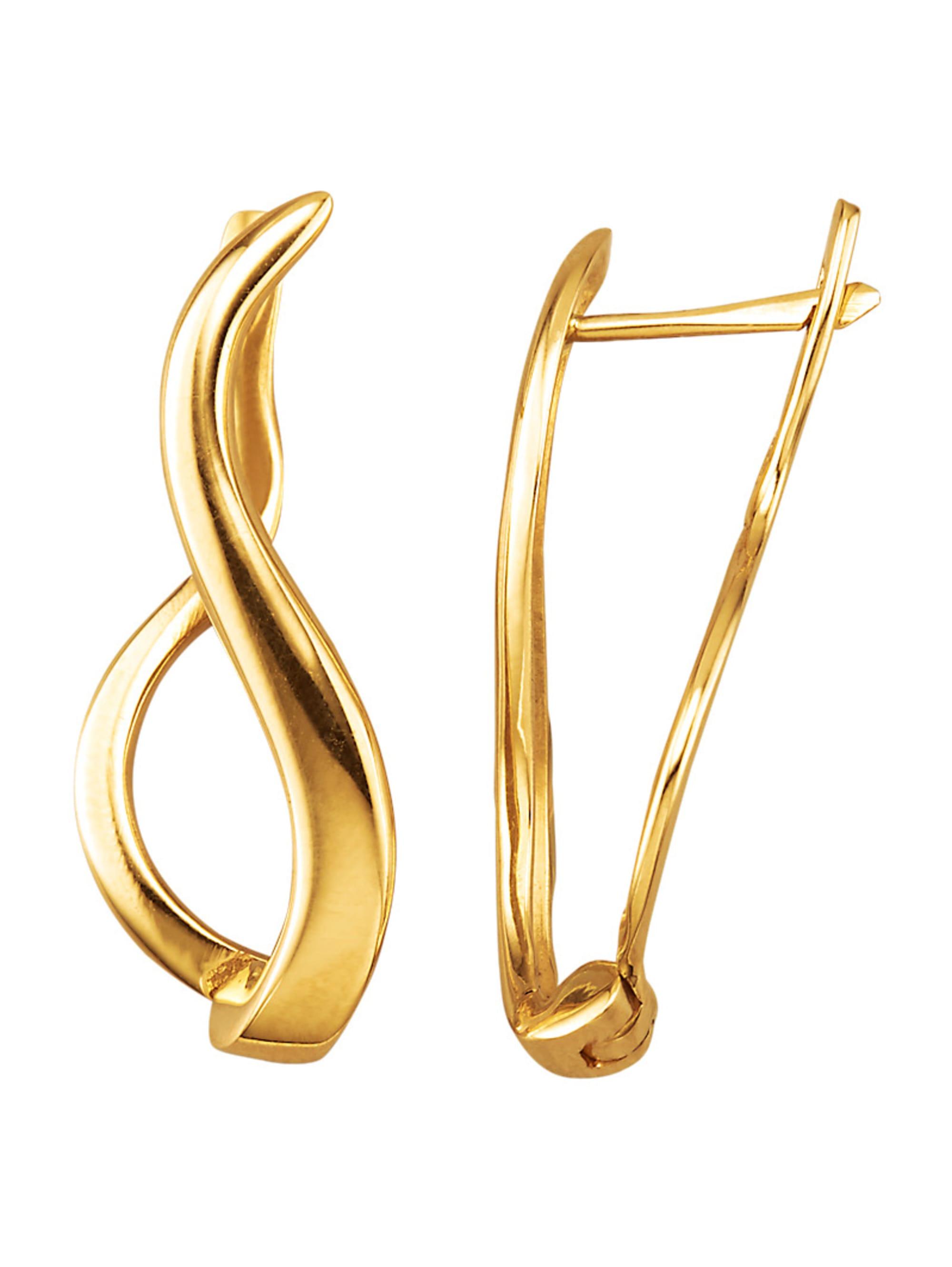 Diemer Gold Ohrringe in Gelbgold 585 vwE4D