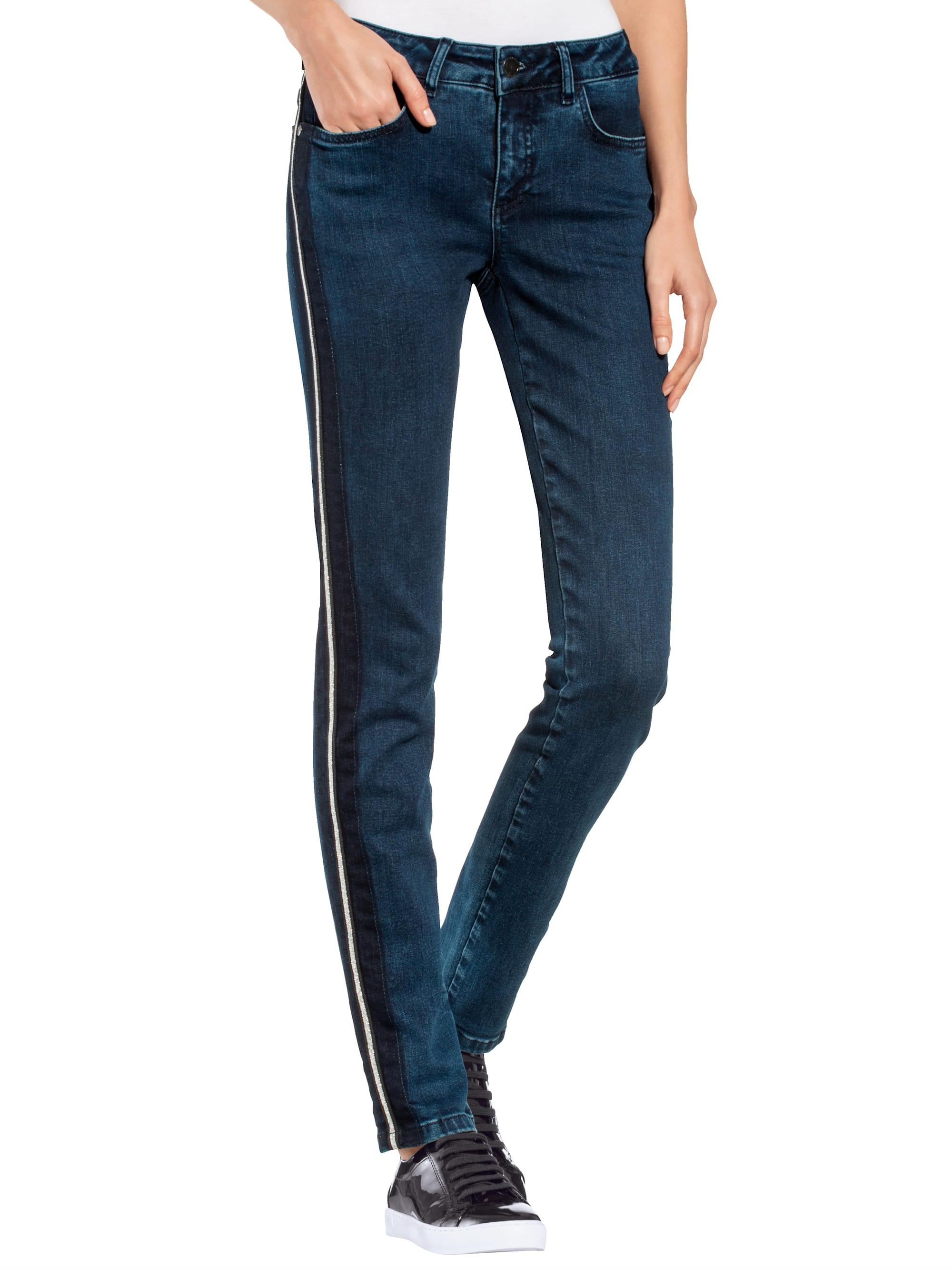 Alba Moda Jeans mit schmückender Seitenpaspel npiL7 KR9WO