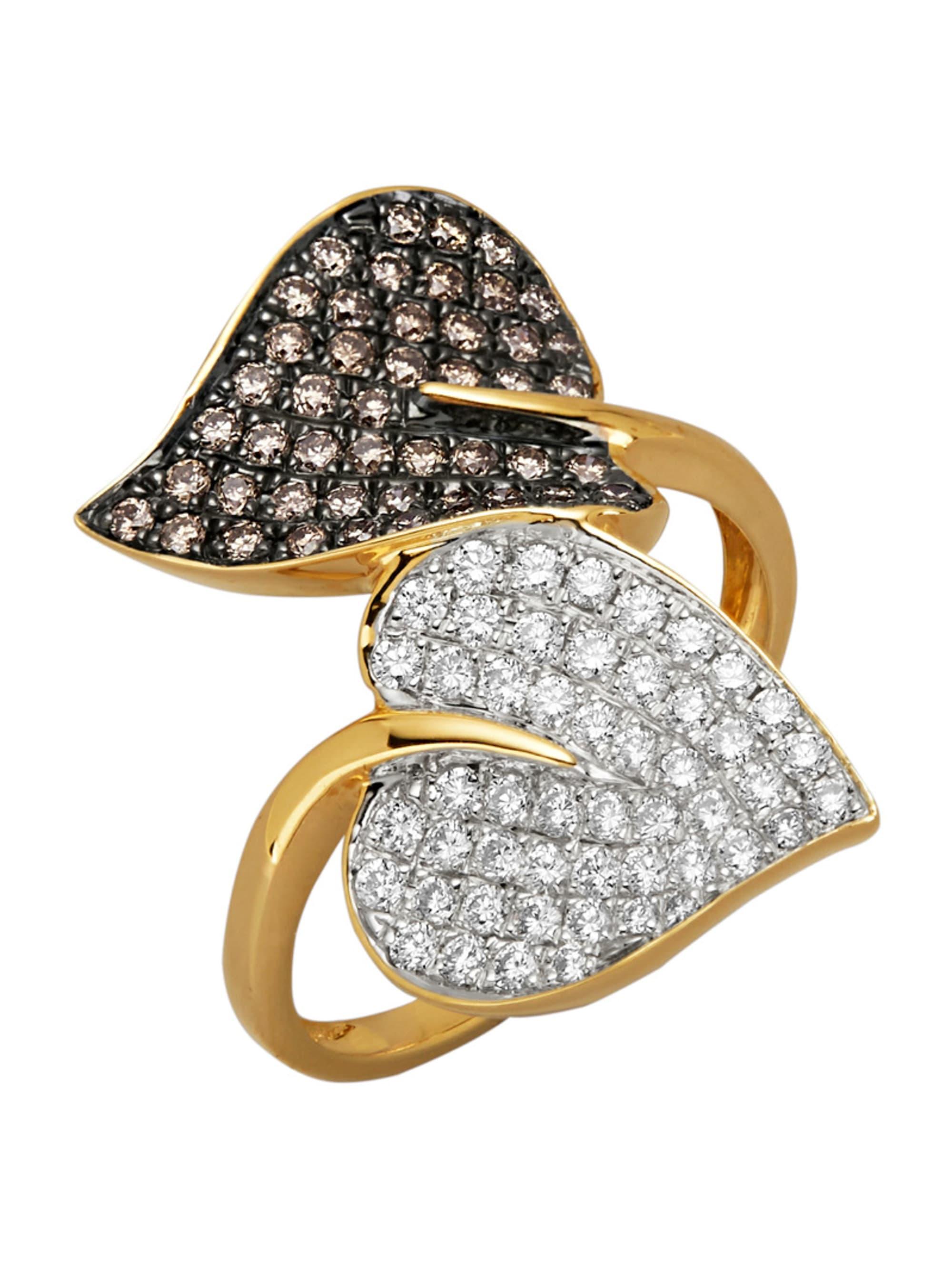 Diemer Diamant Damenring mit Brillanten FVMEh