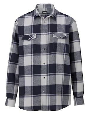 Flanellhemd mit Druckknöpfen
