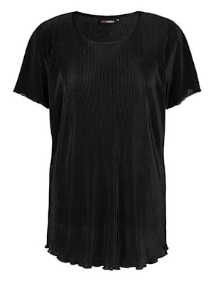 T-shirt en matière plissée