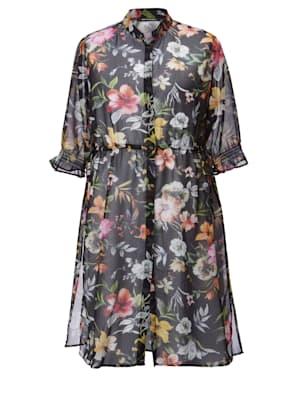 Lange blouse met bloemendessin