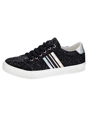 Sneakers à l'aspect brillant chic