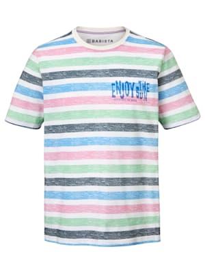 T-shirt à imprimé rayé