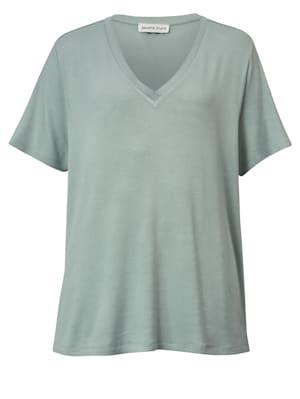 Shirt met metallic garen