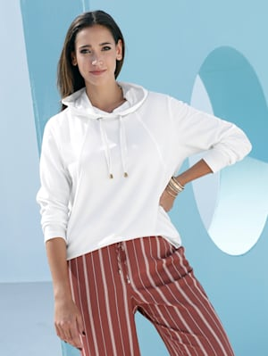 Sweatshirt mit dekorativen Nähten