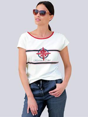 Shirt mit maritimen Print im Vorderteil