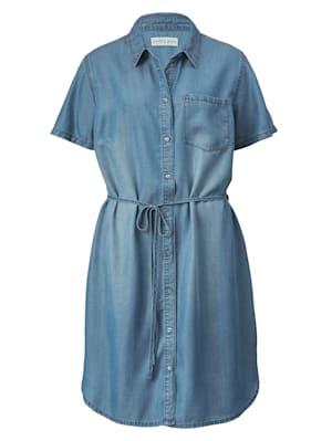 Jeanskleid mit Bindeband in der Taille