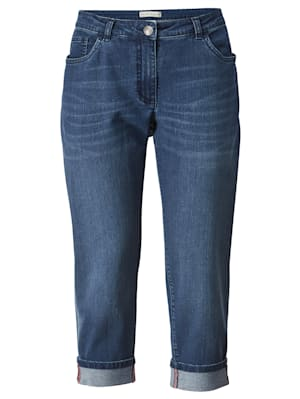 7/8-jeans met gefixeerde omslag aan de zoom