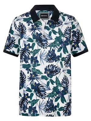 Poloshirt mit floralem Druckmuster