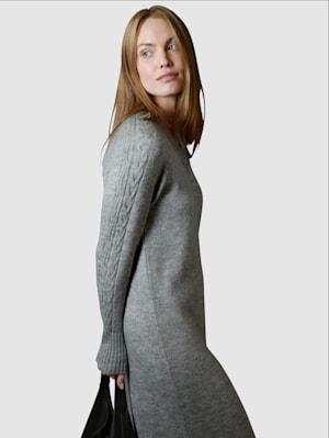 Pletené šaty v melanž kvalite