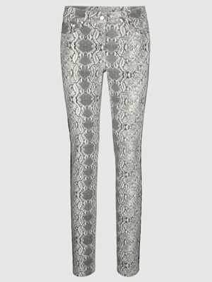 Pantalon à imprimé animal et de coupe Extra Slim