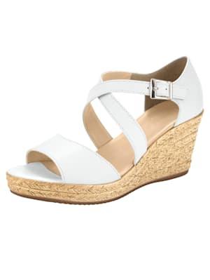 Sandales compensées à beau jeu de brides