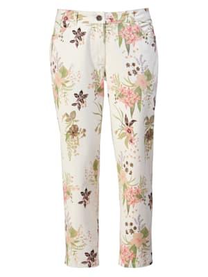 Hose mit frühlingshaftem Blumendruck