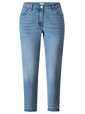 Jeans mit dunklem Streifen seitlich