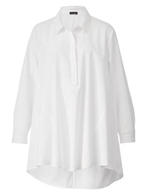 Bluse mit kurzer, verdeckter Knopfleiste