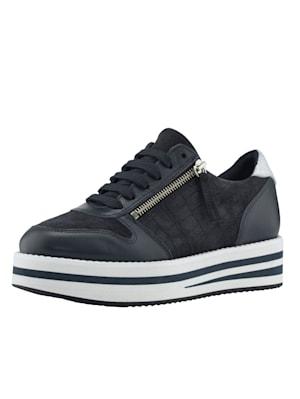 Sneakers à plateau d'aspect croco tendance