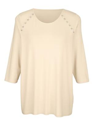 T-shirt avec perles fantaisie