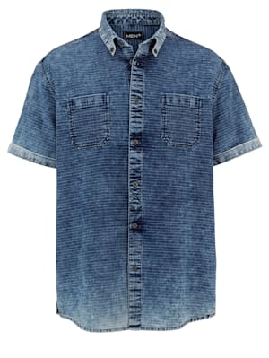 Jeansoverhemd in washed look