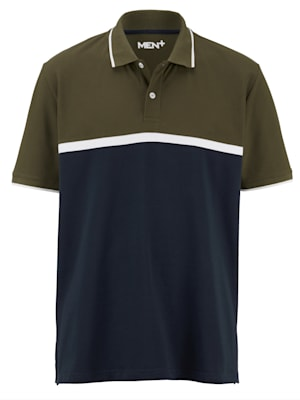 Poloshirt met colour blocking