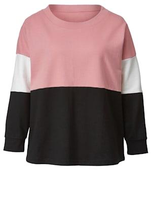 Sweatshirt mit Farbkontrasten