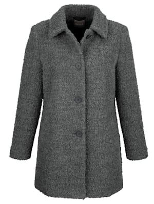 Longline jacket in a bouclé fabric