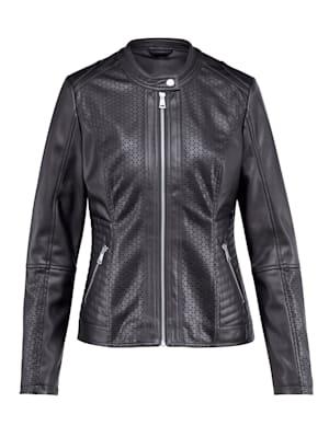 Faux leather jacket in a biker silhouette