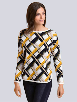 Pullover im exklusiven Jacquard-Dessin