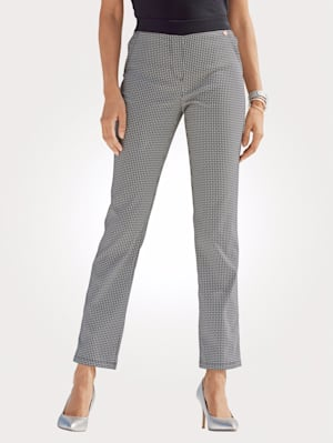 Pull-on trousers in jacquard