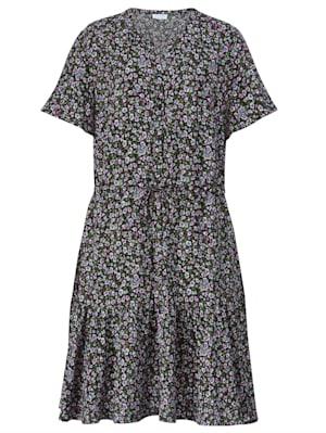 Kleid mit Tunnelzug auf Taillenhöhe